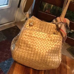 Beautiful vintage Bottega Veneta gold leather bag